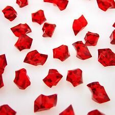 1000 RED Acrylic Scatter Crystal Nuggets Ice Stone Confetti Wedding Vase Filler
