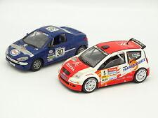 Solido SB 1/43 - Lote de 2 : Peugeot 206 CC y Citroen C2 Rallye