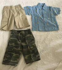 Bulk Lots Summer Boys Clothes 3 Pieces . Size 3 Army Pant , Pumpkin Patch Top