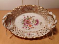 Petit coupe porcelaine ancienne allemande ajourée ceramique Allemagne