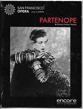 2014 San Francisco Opera Program ~ PARTENOPE ~ George Frederic Handel