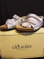 """Brand New """" Old Soles Australia"""" Toddler size US 10  Silver"""