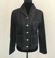 RALPH LAUREN Denim & Supply Blue Jean Denim Jacket Blazer Button Up Large New