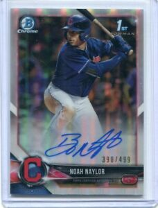 2018 Bowman Chrome Draft Noah Bo Naylor Refractor Auto Autograph #390/499!!!!