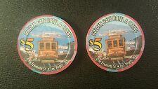 golden gate casino  las vegas $5 casino chip unc