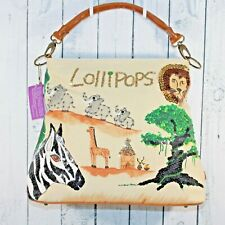 Lollipops Accessories Handmade Fabric Unique African Embellished Purse Bag Tote