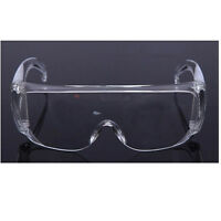 Clear Lens Protective Safety Glasses Eye Protection Goggles Lab Work Specs: