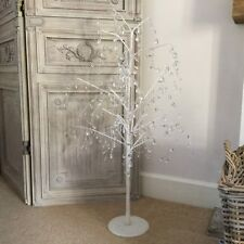 1m Gisela Graham White Glitter Jewel Twig Tree Christmas Wedding Wish Branch