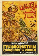 Frankenstein Conquers the World R1980 Egyptian Movie Poster Nick Adams