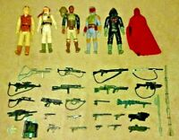 Star Wars original vintage 80's lot 6 figures Hoth Jabba Palace many weapons