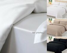 100% EGYPTIAN COTTON SOFT 800 THREAD COUNT FLAT / EXTRA DEEP FITTED SHEET WHITE