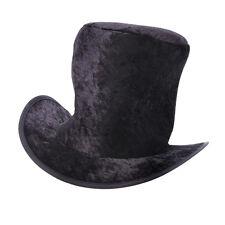 Childrens Black Velvet Top Hat Artful Dodger Mad Hatter Fancy Dress Prop