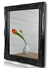 Spiegel Wandspiegel schwarz barock HOLZ Badspiegel Landhaus Cottage Holzrahmen