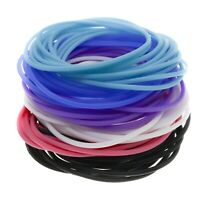 72 PCS Silicone Jelly Bracelets for Girls & Women, Stretch Hair Ties in 6 colors