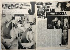 JACKIE KENNEDY => 2 pages 1972 Vintage ITALIAN CLIPPING !!!