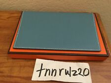 New Authentic Blue Jean HERMES Epsom Notepad Cover Checkbook Wallet