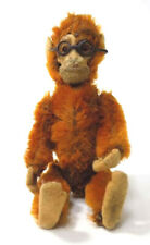 c.1930's Schuco Yes/No Monkey Metal Eyes & Glasses Rust Color Mohair 5""