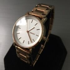 Ladies DKNY Designer Watch NY2344 SoHo Round Rose Gold PVD Steel Genuine