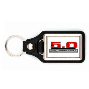 FORD MUSTANG 5.0 KEYCHAIN WITH WHITE BACKGROUND KEY CHAIN