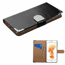 Patterned Synthetic Leather Cases & Covers with Card Pocket for Apple Phones