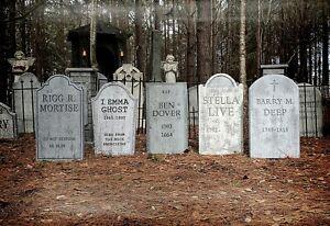 Evil Soul Studios Comedy Series Set of 5 Tombstones Halloween Props Cemetery