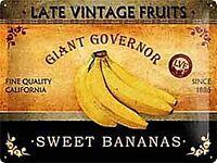 Dulce Plátanos Grande con Relieve Letrero de Metal 400mm X 300mm (Na ) Reducido