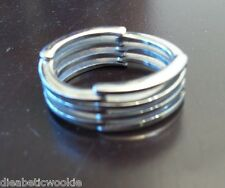 Rare Mens stainless steel silver bendable ring size 13