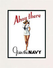 """Navy Girl"" 11x14 Open Edition Print by Hawaii watercolor artist Garry Palm"