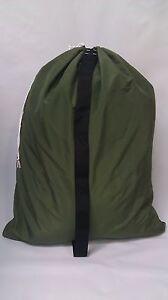 OLIVE DRAB (OD GREEN) CAMO 30x40  NYLON BAG- STRAP  - MADE IN USA