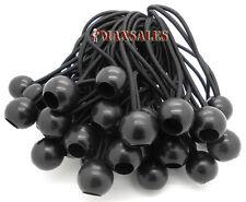 "(25) 6"" BLACK Ball BUNGEE Cord Tarp Bungee Tie Down Strap Bungi Canopy Straps"