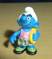 Smurfs 20468 Climber Smurf Hefty Hiker Vintage Hiking Figure Toy PVC Figurine