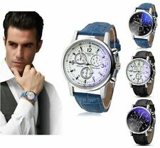 Faux Leather Band Men's Wristwatches with Chronograph