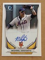 2014 Bowman Chrome Michael Conforto Auto RC Top Rookie Autograph Mets