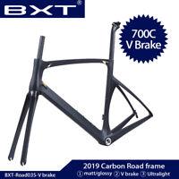 T800 Carbon Road Bike Frame 700C Carbon Frameset 49/52/54/56cm V brakes frames