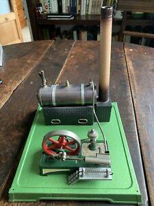 Old Fleischmann Tin Plate Toy Model Live Steam Reciprocating Engine