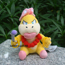 "Wendy Koopa 6"" Super Mario Bros 3 Koopalings Bowser Girl Plush Toy Nintendo Doll"