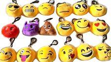 Joblot of 36 pcs Emoji Emotions Soft Toy Clip On Pillow Bag charm 6cm wholesale
