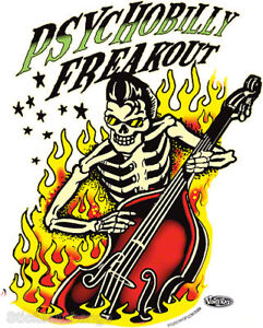 Psychobilly Freakout STICKER Decal Artist Vince Ray VR35
