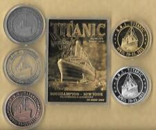 RMS TITANIC APRIL 10-15, 1912 23 KT K CARD Gold Silver Brass Copper Coins