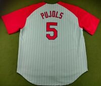 Albert Pujols #5 MLB St. Louis Cardinals Stitched NIKE Jersey Size XL (#J-005)
