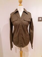 Bnwt New Size 10 B Young Military Green Shirt Blouse Top g