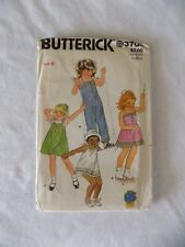 Butterick 3704 Children's Dress Jumpsuit & Panties Size 6 Factory Folded Pattern