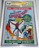 True Believers Amazing Spider-Man #1 CGC SS 9.8 Signature STAN LEE Reprint ASM 1