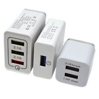 USB Fast Quick Wall Charger Adapter 1,2 or 3 Ports for Android Samsung iPhone