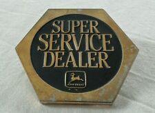 JOHN DEERE SUPER SERVICE DEALER BELT BUCKLE 1988 DEERE & COMPANY MOLINE, ILL USA