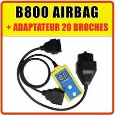 SCANNER DIAGNOSTIC AIRBAG B800 SRS OBD OBD2 OBDII ET ADAPTATEUR BMW