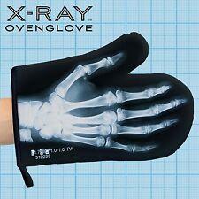 Just Mustard Oven Mitt X Ray Skeleton Glove Gift black/white print cotton