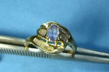 Jewelry Gold Tanzanite and Diamond Ring #R20