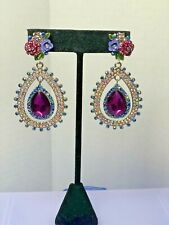 Statement Earrings New 65% Off Gorgeous Betsey Johnson Retired Crystal Orbital