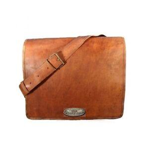 Men's Briefcase Genuine Leather Satchel Laptop Messenger Bag (Magnetic Closer)